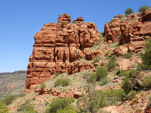 Sculpted redrock on Bell Trail along Wet Beaver Creek wet beaver