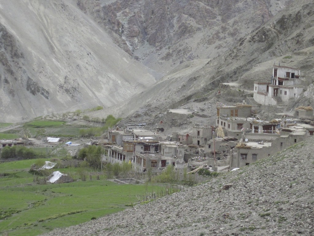 Distant view of Rumbak Village, India