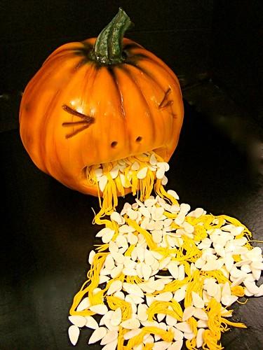 vomiting pumpkin cake!