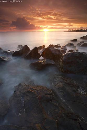 longexposure sunset seascape west beach canon indonesia landscape eos coast rocks 5d nusa barat tenggara senggigi ef1740mmf4lusm hitechfilters randiang