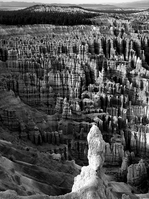 Bryce Sunset (B&W)