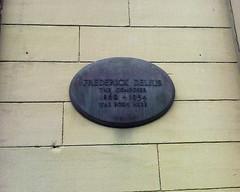 Photo of Frederick Delius black plaque