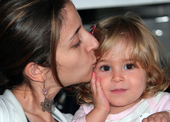 child, mother, nose, face, hairstyle, people, skin, woman, female, daughter, person, interaction, smile, eye, organ,