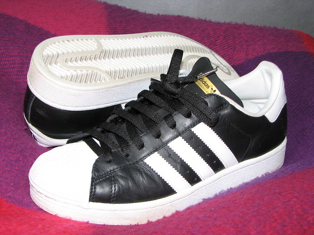Adidas Shell Toe Men White Shoes Gold Letters Superstar