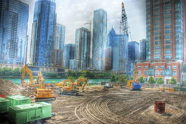 Chicago Spire breaking ground: 3