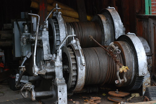 winches at marine railway, Milton Yacht Club, Neponset River