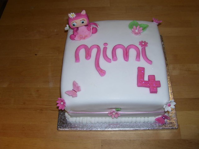 Cake Designs For 4 Year Girl : Birthday cake for 4 year old girl Flickr - Photo Sharing!