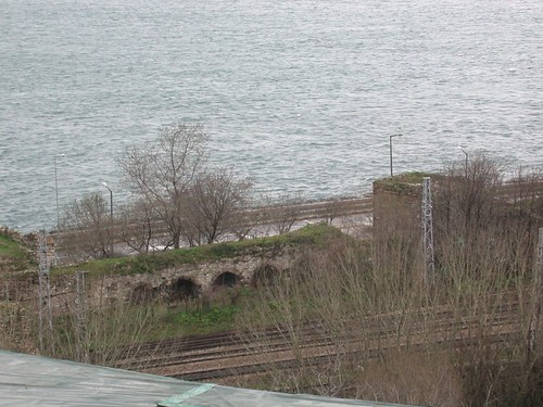 A tengeri fal maradványai a Topkapı pakota mögött