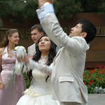 Kazakh Wedding, Setting Doves Free - Almaty, Kazakhstan