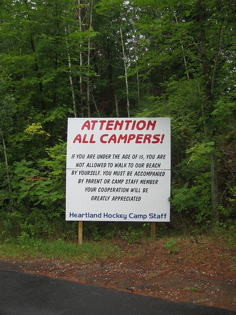 funny hockey signs