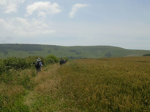 Walking to the Long Man....