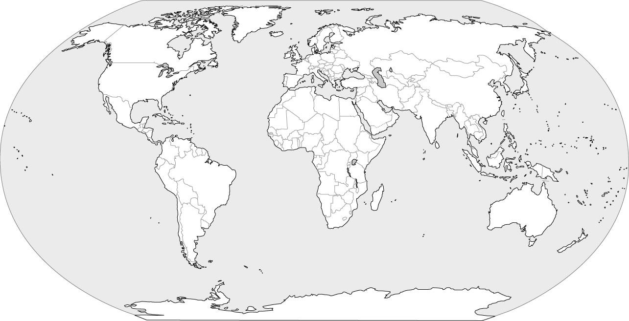 Black World Map hd Black White Outline World Map