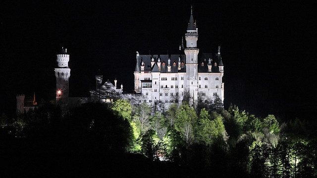 Neuschwanstein at night