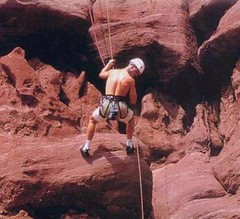 free solo climbing(0.0), wadi(0.0), canyon(1.0), adventure(1.0), sports(1.0), recreation(1.0), outdoor recreation(1.0), rock climbing(1.0), formation(1.0), sport climbing(1.0), extreme sport(1.0), climbing(1.0),