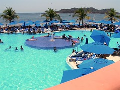 resort town, swimming pool, beach, sea, leisure, vacation, resort,