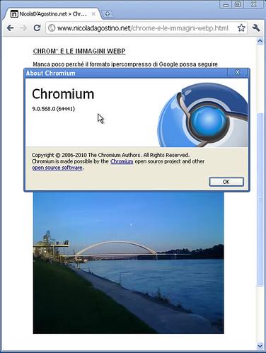 Chromium supporta le immagini WebP!