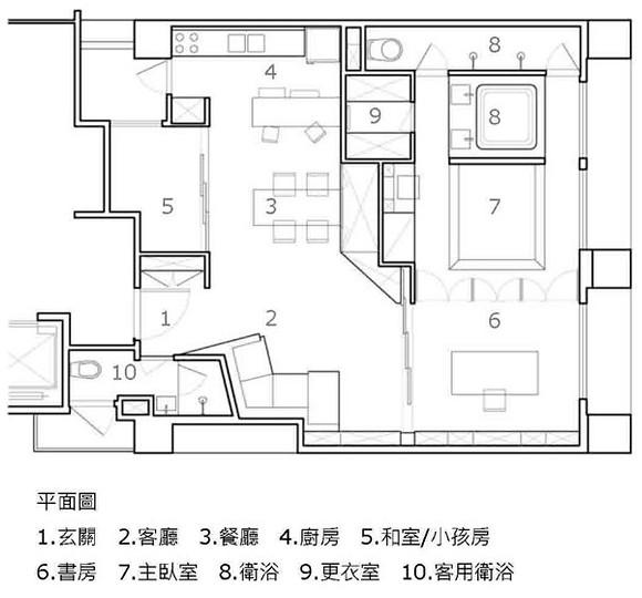 無有建築設計 WOOYO Archi - U Apartment drawing 01 - plan 平面圖.jpg ...