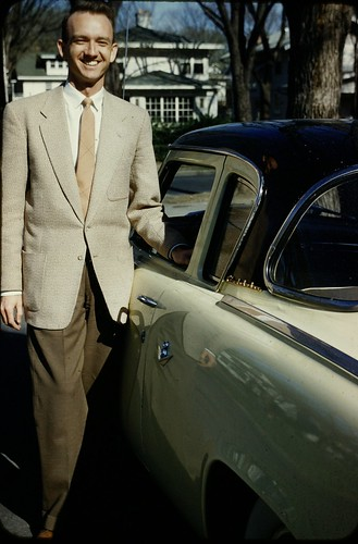 Man with New Studebaker - 1956