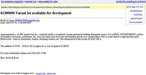 Craigslist -- Bukowski's De Longpre Residence for Sale   Flickr