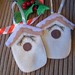 Snowy Bird House Ornaments by LookHappyShop
