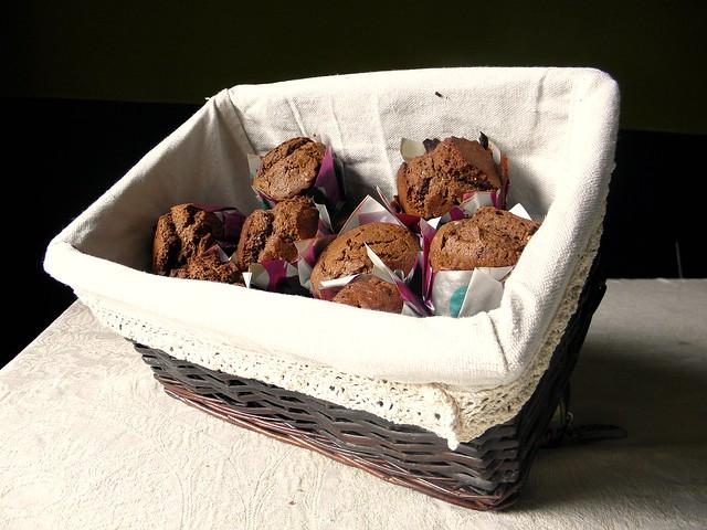 Muffin με ινδοκάρυδο και γλάσο σοκολάτας