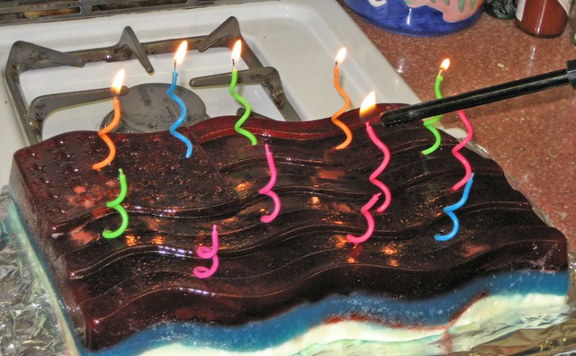 Jello Birthday Cake