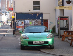 Metallic Green Toyota Sportscar