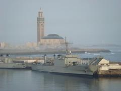 Casablanca port with Hassan II mosque