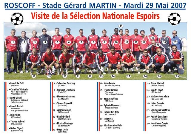 Roscoff - Football - Sélection Nationale Espoirs de l'équipe de France - 29 mai 2007