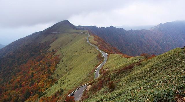 Kamegamori road in autumn