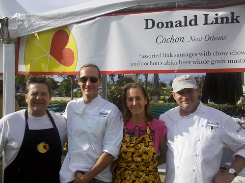Susan spicer and Donald link in culver city supporting alex's lemonade stand
