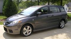 mazda premacy(0.0), compact car(0.0), automobile(1.0), compact mpv(1.0), vehicle(1.0), minivan(1.0), mazda mazda5(1.0), mazda mpv(1.0), land vehicle(1.0),