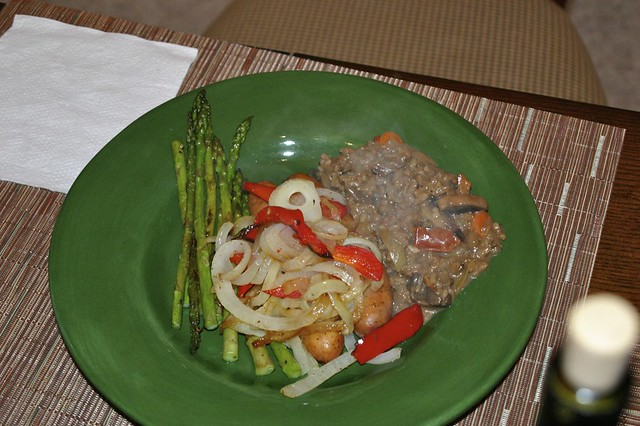 Chicken Sausage, Mushroom Risotto, Asparagus | With onions a ...
