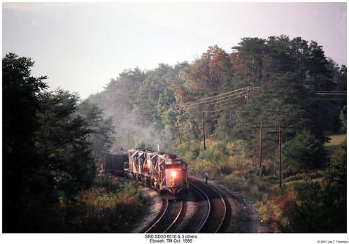 railroad train diesel tennessee railway trains locomotive trainengine sbd etowah emd sd50 seaboardsystem sixaxle