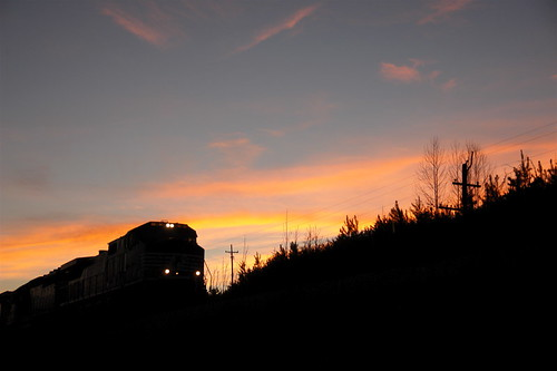 sunset silhouette train nc north norfolk northcarolina southern carolina sonyr1
