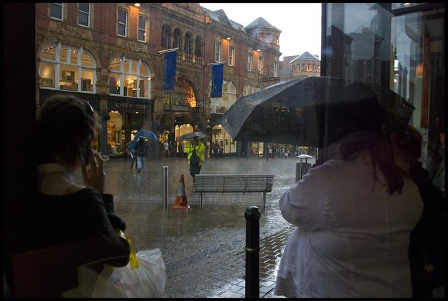 Downpour on Briggate