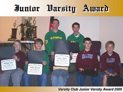 Aringo Varsity Club 2005 - Junior Varsity Award