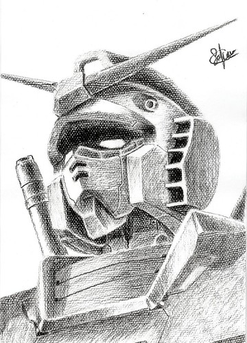 Hand Drawing-RX-78-2(02) by sakura_fungwan