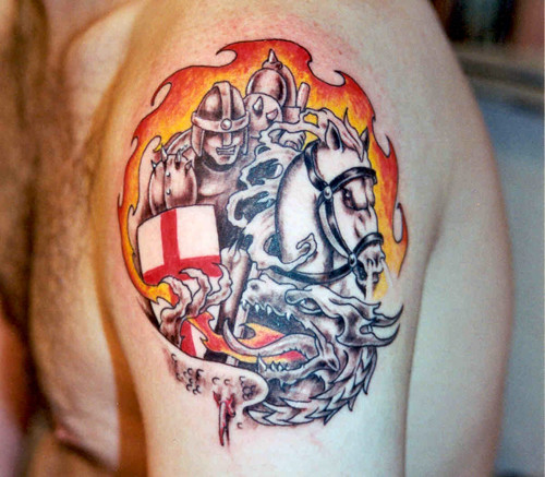 St george and dragon v1 tattoo for St george tattoo