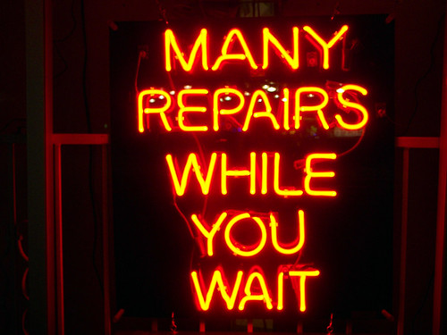 Many repairs while you wait...