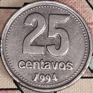 25 Argentina Centavos