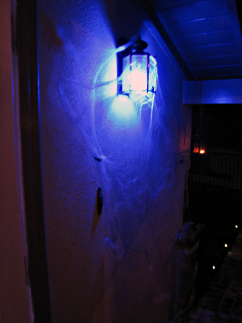 Blue Eco Light Front Porch Halloween Decor Flickr