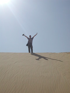 Happy in Desert