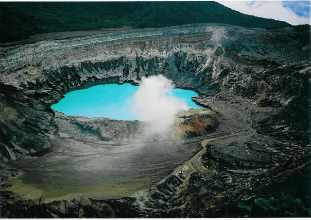 Blue sulphur water