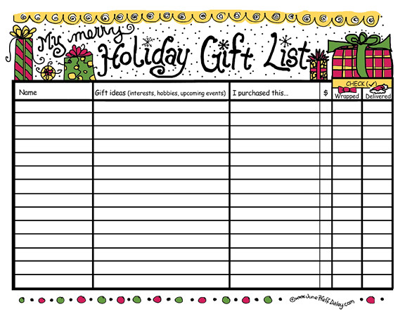 Holiday Gift List Printable | Flickr - Photo Sharing!