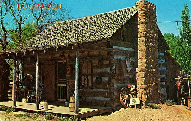 Dogpatch Ol Bobs Cabin Postcard