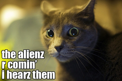 the alienz r comin'