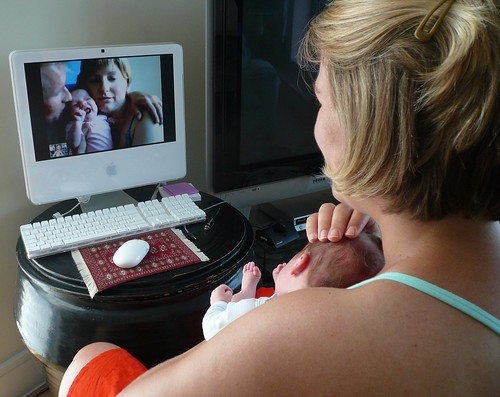Baby-to-baby video conference
