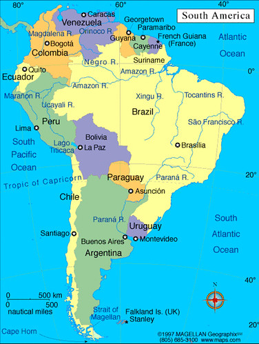 Mapa de Am rica del Sur mapa da Am rica do Sul map of South America Flic