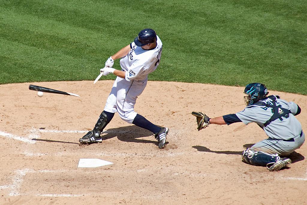 Josh Bard broken bat